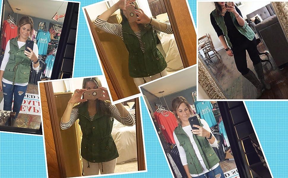 women sleeveless vest jacket