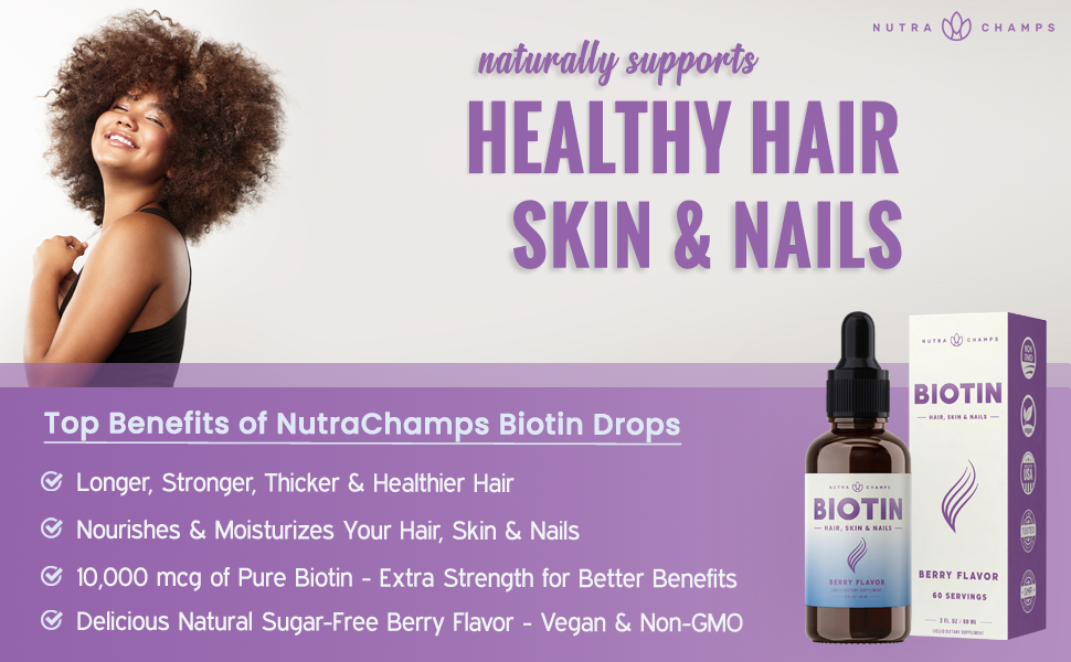 biotin drops 10000mcg supplement