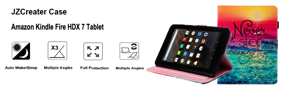 Amazon Com Folio Case For Fire Hdx 7 2013 Old Model Jzcreater Fit Leather Protective Cover With Auto Sleep Wake For Amazon Kindle Fire Hdx 7 0 Inch 3rd Generation Tablet Don T Touch Me