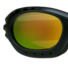 motorcycle biker goggles sun glasses shades orange mirror revo lens strap foam blocks wind