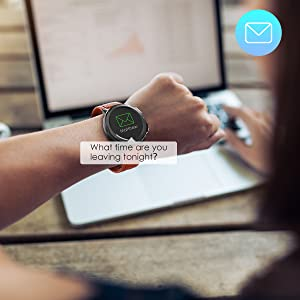 smart watch by SNS alerts
