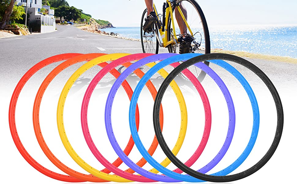 Bike Solid Tire 700x23C Road Bike Bicycle Cycling Riding Tubeless Tyre Wheel UK