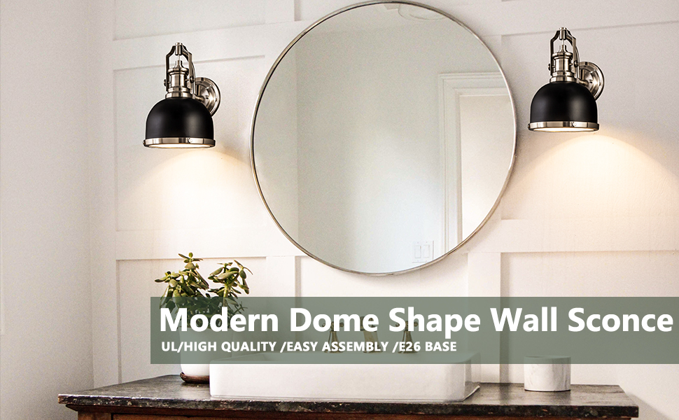 modern dome wall sconce
