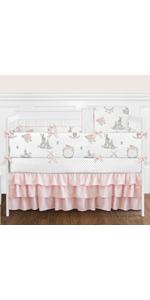 Blush Pink and Grey Woodland Boho Dream Catcher Arrow Gray Bunny Floral