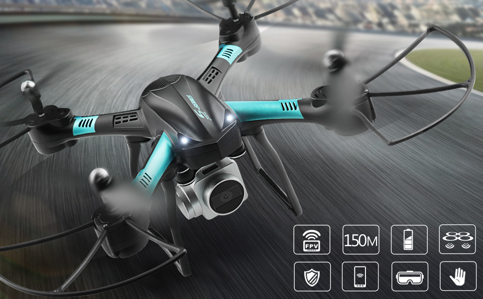 Altitude Hold Gravity Sensor Drones for Kids Beginner Children Adults Dwi Dowellin 18-20 Mins Long Flight Time WiFi FPV Drones with 720P HD Camera Live Video RC Quadcopter with Voice Control