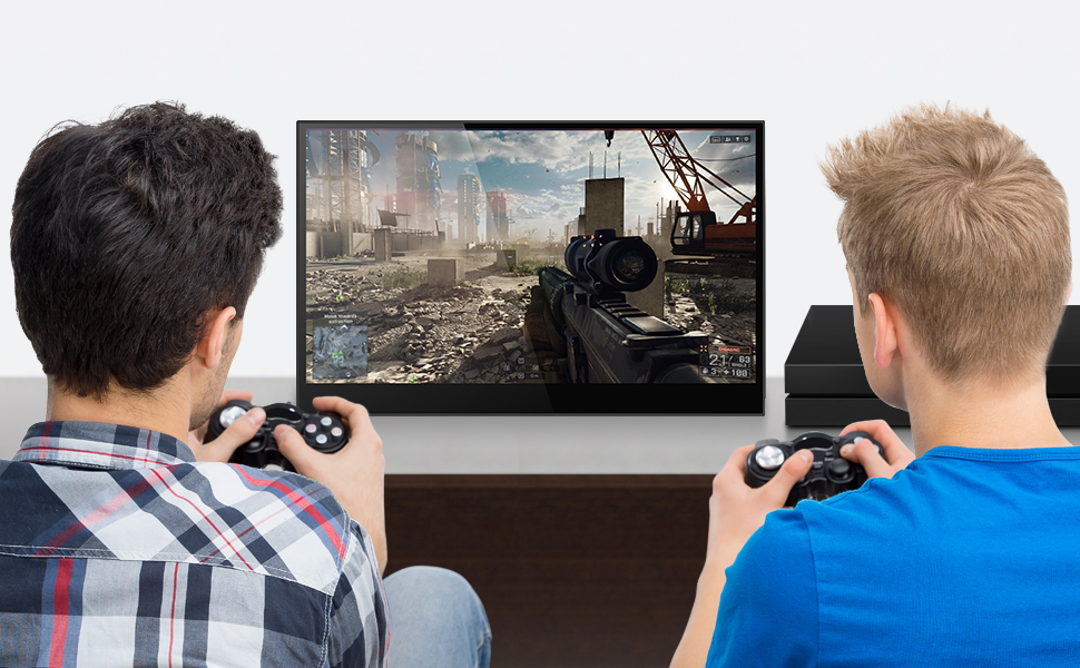 8  4K Portable Monitor Touchscreen 15.6 Inch UHD 3840×2160 Gravity Sensor Automatic Rotate Game Monitor IPS Eye Care Metal Frame Dual USB with HDMI Type C Speakers for Laptop PC PS4 Xbox Mac Phone bea8f3e2 7f9e 457e 9c78 dc95435276ee