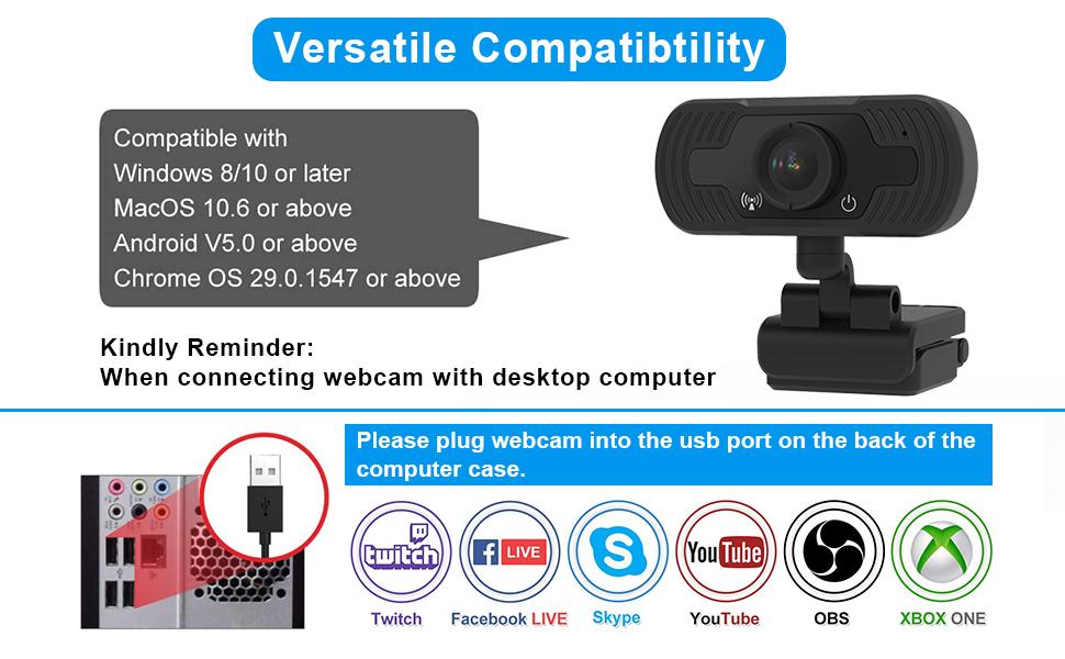 face cam, webcam with microphone, computer camera, web camera, web cams, live streaming camera