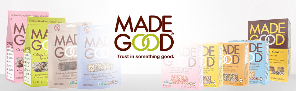 MadeGood has a variety of high quality snacks and foods. From granola bars to cookies, eat great.