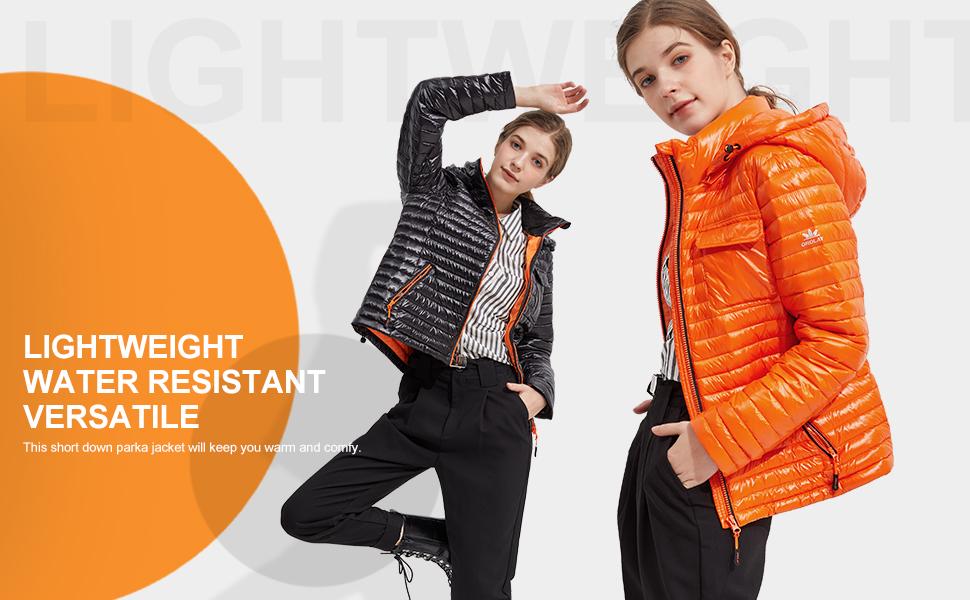 orolay lightweight down coat short women light down jacket warm early winter fashion hooded  coat