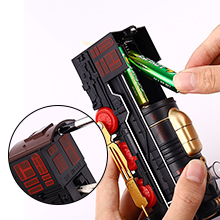 Put the batteries into the case