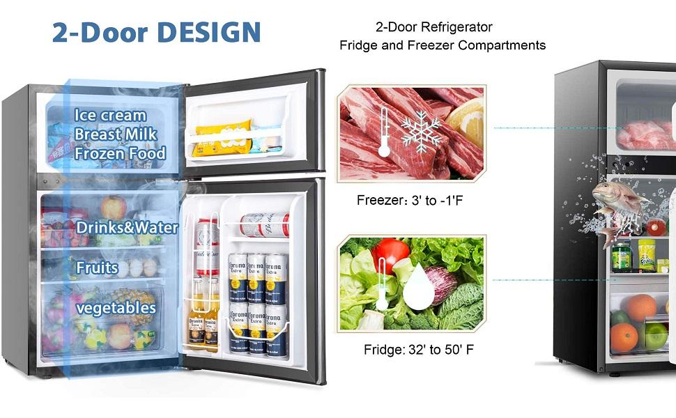 small fridge mini refrigerator for room home office bar latest