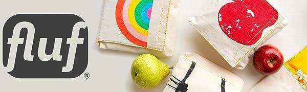 Organic Cotton Reusable Snack Bags fluf