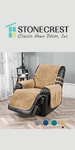 velvet recliner cover