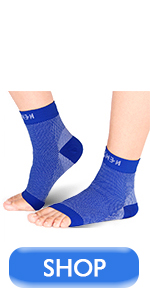 Blue foot compression sleeves