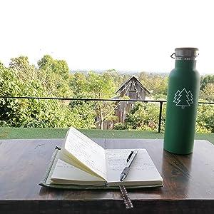 nature journaling water bottle