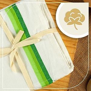 Neolino Kitchen Dish Towels, Herringbone Weave Kitchen Towels,  SPN-FOR1