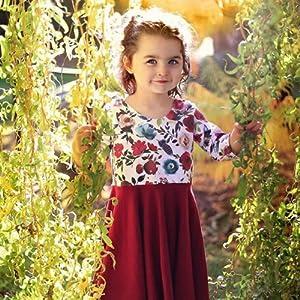 Toddler Girl Floral Twril Dresses