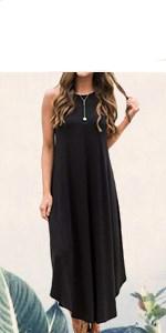 long dresses for women summer sleeveless maxi dresses for women beach party loose fitting tank dress
