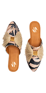 Mules Pointy Toe Flats for Women