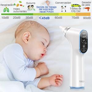 Aspirador Nasal Bebes Electrico Impermeable Carga USB Aspirador de ...