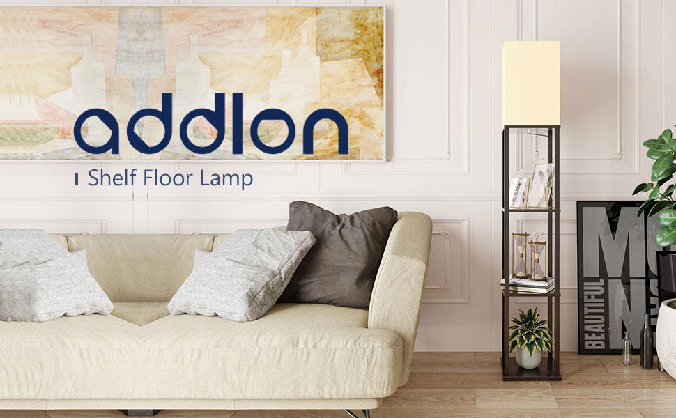 LED shelf floor lamp