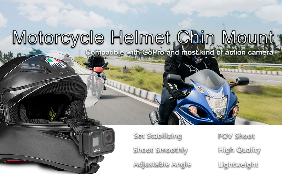 Taisioner Helmet Chin Mount for GoPro