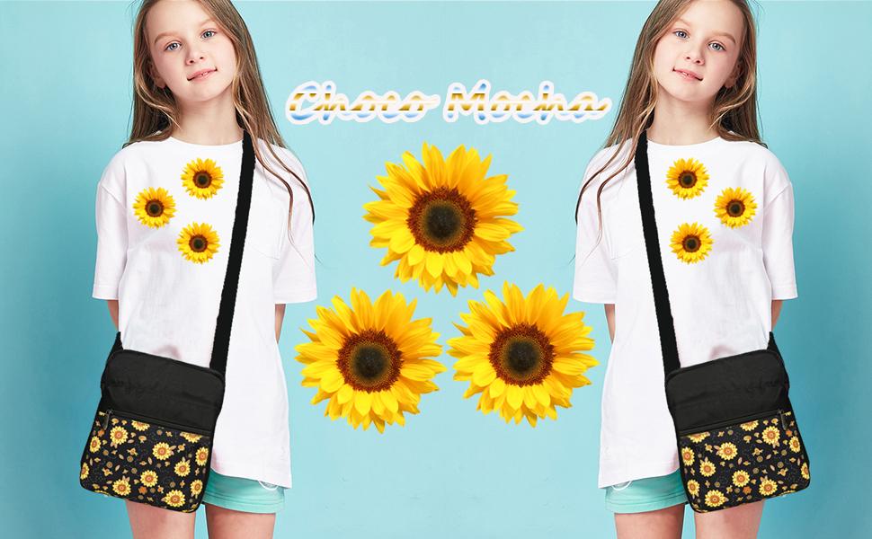 Choco Mocha Sunflower Purse for Girls
