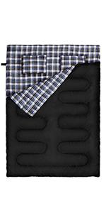 Double Sleeping Bag-Flannel