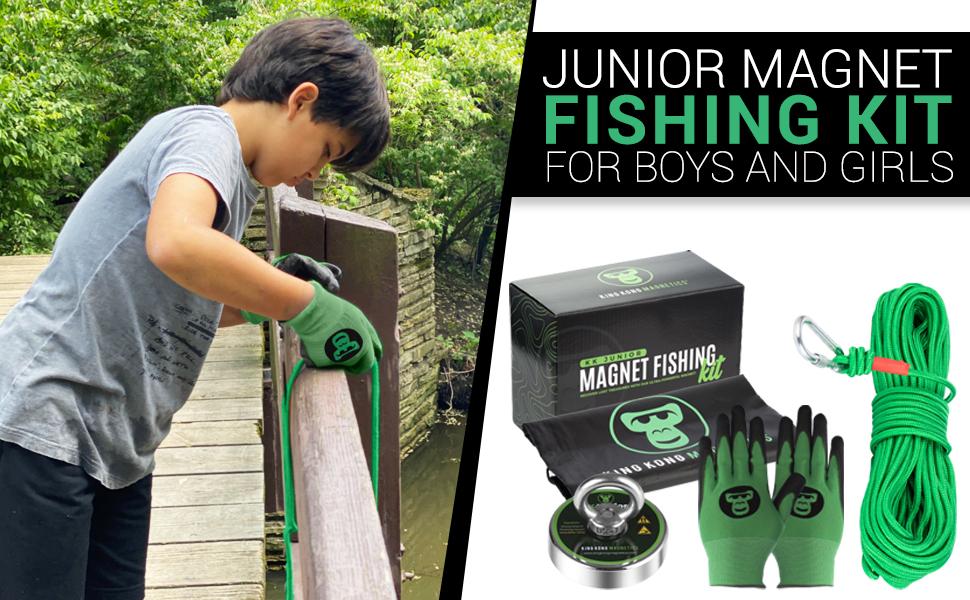 magnet fishing kit for kids boys girls grandson granddaughter niece nephew son daughter junior