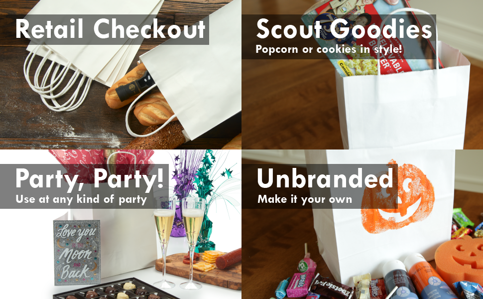 PI11017 retail checkout bag scout goodies bag boy scout popcorn girl scout cookies party unbranded