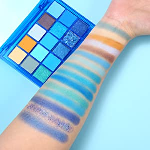color swatches blue