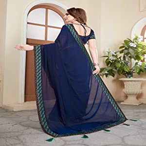 Fancy Georgette Sarees for Women new sari for womens fancy sarees for under 500 latest design party