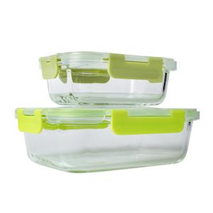 3 x 1040 ml 3x370 FP13-6G Premium Glas Frischhaltedosen Set Meal Prep Container FITPREP/® Transparent