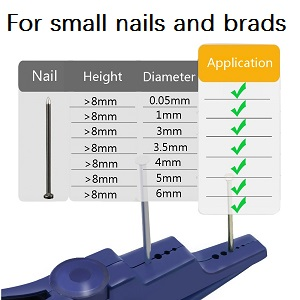 nail holder for small nails and brads