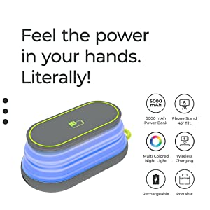 Impulse Powerbank Portable Charger MakeSpaceForNew Charge Mobile Stand Phones Mobile Power Bank Lamp