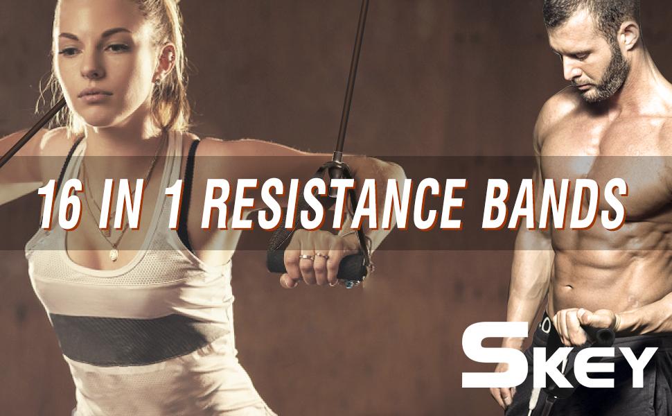 resistance bands set women men exercise equipment