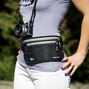 My-Jaxo - Waterproof RFID Slim Fanny Pack - Money Belt for Men and Women Travel belt Money Passport