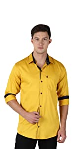 cotton solid plain shirts for men latest casual stylish fashion levizo colours contrast collars