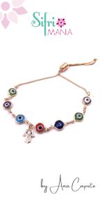 Multi Color Dainty Talisman Evil Eye Hand Bolo Adjustable Bracelet