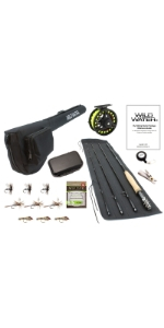 wild water fly fishing, 5/6 rod, 5 wt, 6 wt, 5 weight, 6 weight, 85mm die cast aluminum reel