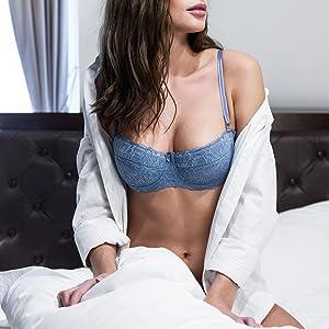 Trägerloser Push Up BH Sexy mit Spitze Damen Pushup Dirndl Trägerlos ohne Träger