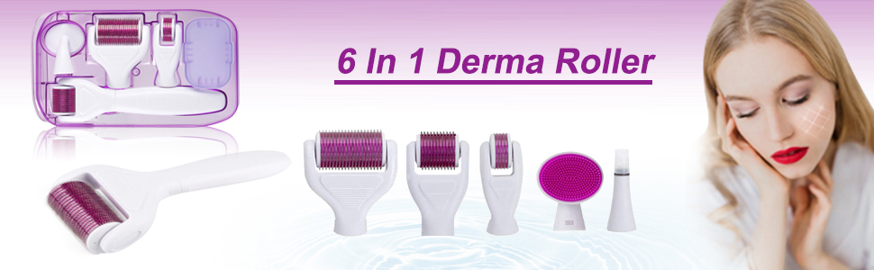 Xnuoyo Derma Roller, Derma Roller Kit 6 in 1 Micro Needles Silicone Brush  and Disinfecting Tray for Skin Regeneration, Anti Ageing, Wrinkles,Acne  Spot, Cellulite to Use on Face, Eyes, Body: Amazon.co.uk: Beauty