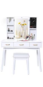 Vanity tale set makeup table