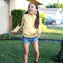 girls kids hoodie shedo lane upf 50+ sun protection clothing
