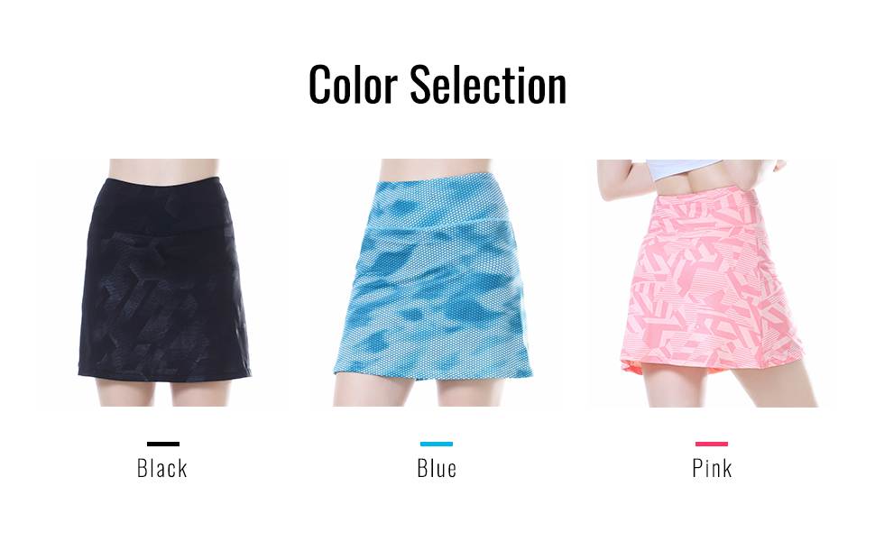 three color running skirts