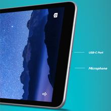 Imagen de la tableta centrada en el puerto de carga USB-C