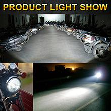 Motorcycle h4 led headlight light pattern