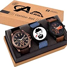 Acnos Men's Analog Watch Combo