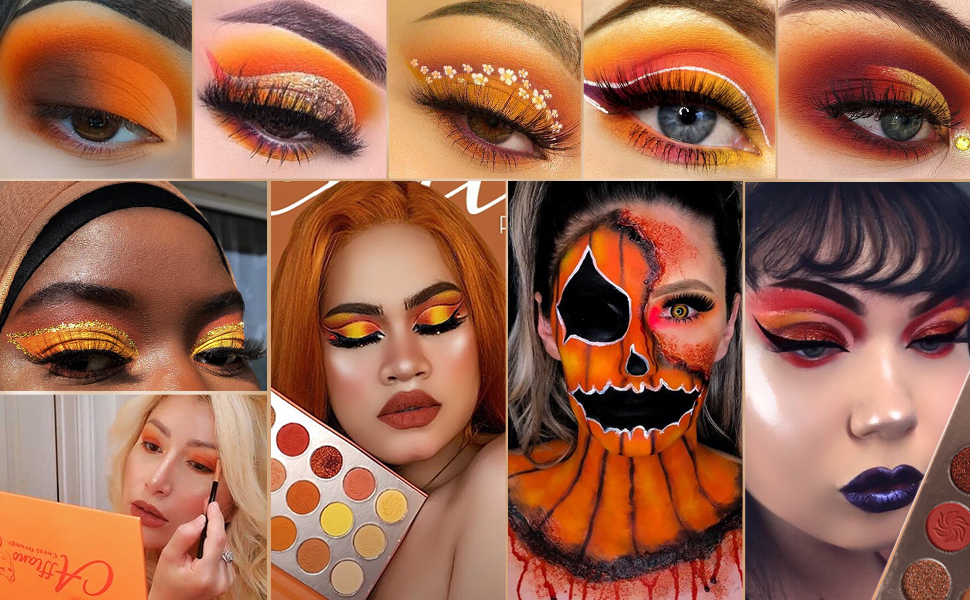 bloggers of makeup eyeshadow palette red nude orange yellow palettes