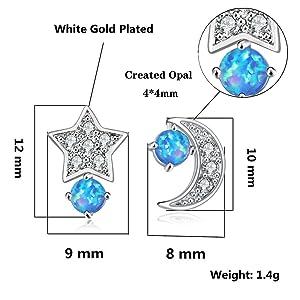 opal earrings for women